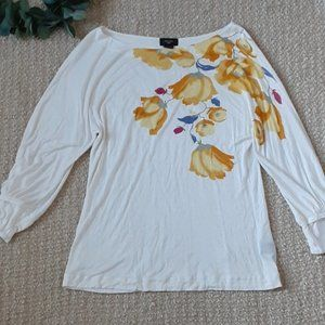 Anthro Deletta Floral Top size S